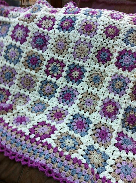 Ravelry: Project Gallery for Summer Garden Granny Square pattern by Lucy of Attic24: