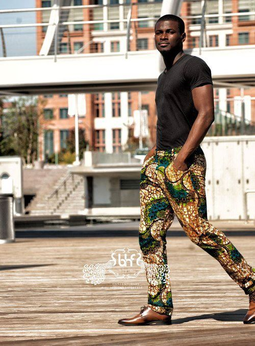 Maybe a bold print pant with a solid color top? African Print