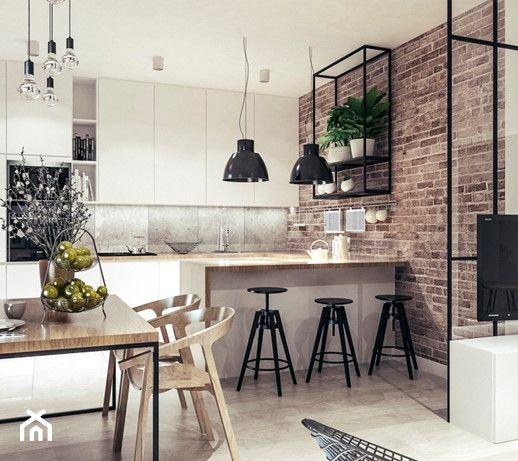 Kuchnia Styl Industrialny 2020 Zainspiruj Sie Modnymi Aranzacjami I Projektami Wnetrz Urzad Interior Design Kitchen Modern Kitchen Cabinet Design Loft Kitchen