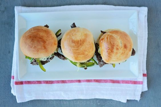 Philly Cheese Steak Sliders - Harmons Blogger | One Sweet Appetite