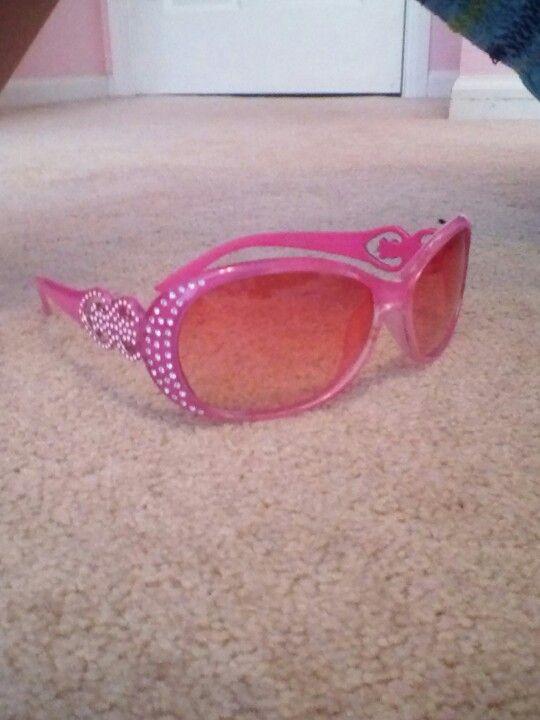 Pink sparkle sunglasses
