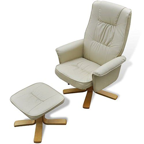 Skb Family Cream White Tv Armchair Recliner Artificial Leather With Footstool French Style Back Chair To See Even More For This Pro In 2020 Armchair White Tv Chair