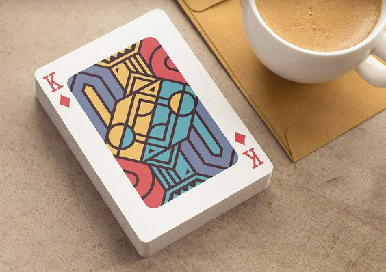 Prague-based designer Mike, aka Creative Mints, created this great looking set of playing cards featuring geometric illustrations.  More graphic design inspiration via Dribbble