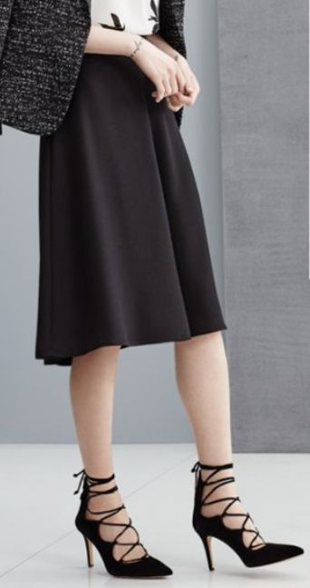 flare a-line skirt