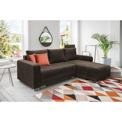 Ecksofa Mit Bettfunktion 17 Stories Polsterfarbe Braun Ausrichtung Rechts Dekokissenstoff Orange Decor Home Decor Couch