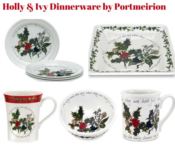 Holly and Ivy Holiday Dinnerware by Portmeirion
