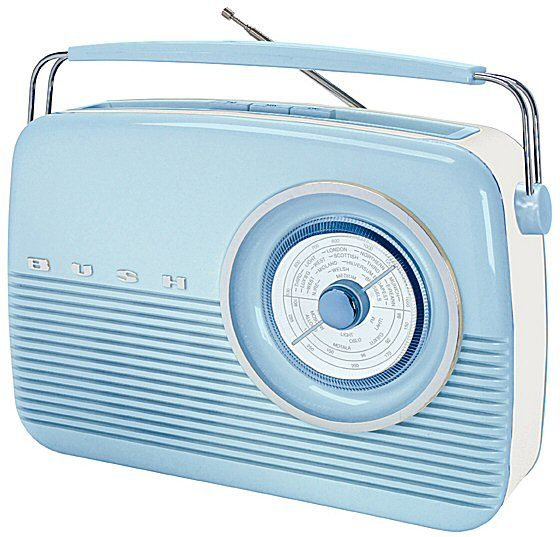 Baby Blue Retro Radio Bush