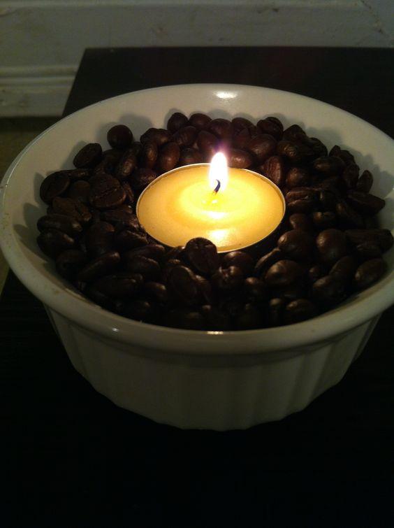 Warm coffee beans smells so good