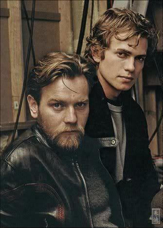 Anakin and Obi-Wan. Ewan McGregor and Hayden Christensen