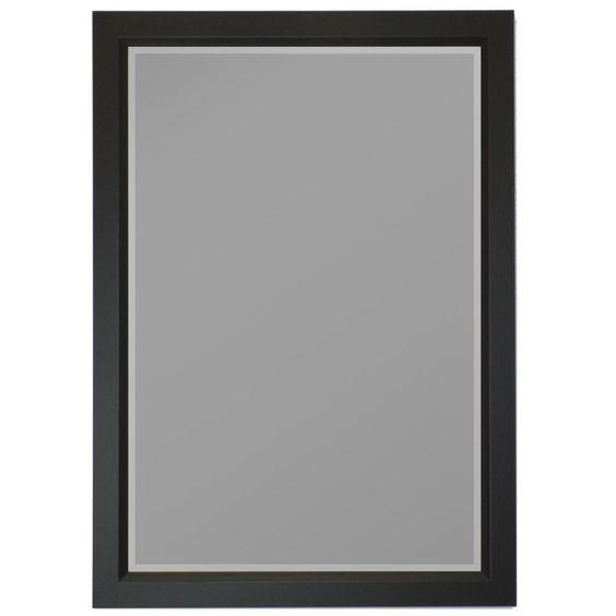 Gallery Black Profile Edge Framed Wall Mirror