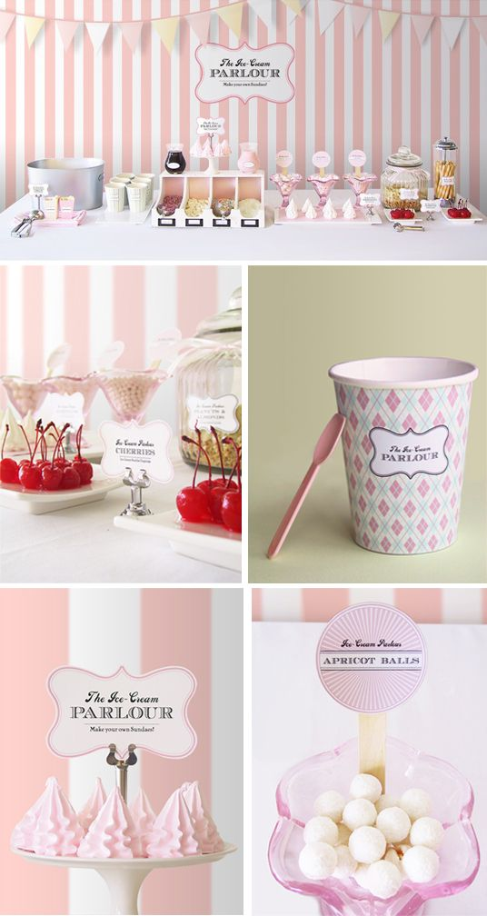 Candy Bar   http://danielakratzer.de/blog/supersuesses-diy-eis-candybuffet/