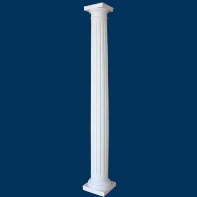 Round Fluted Fiberglass Column Tapered Man Decor
