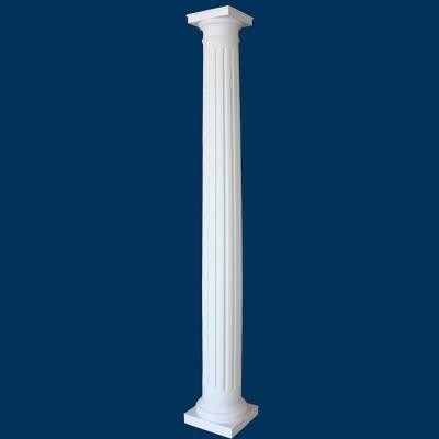 Round fluted fiberglass column tapered man decor for Crown columns fiberglass