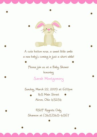 baby shower invitations pinterest baby showers bunny baby showers