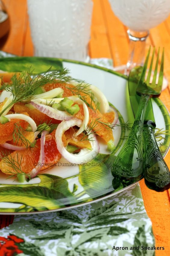 Orange Salad With Fennel, Celery and Colatura di Alici di Cetara (Italian Anchovy Sauce) from @Rowena Dumlao Giardina | Apron and Sneakers