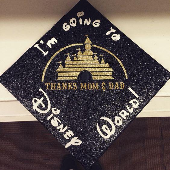 My graduation cap! After graduation, I'm going into the Disney college program. #graduation #graduationcap