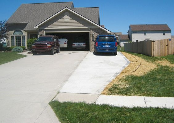 Long driveways the o 39 jays and cheap driveway ideas on for Garage expansion ideas