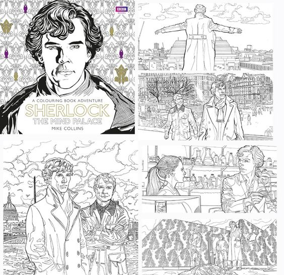 sherlock coloring book available to order. | fan geek | Pinterest ...