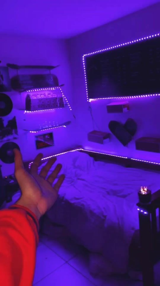 Led Strip Lights With Remote Cosmic Drip Neon Room Aesthetic Rooms Chill Room