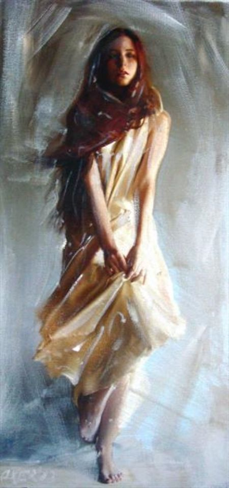 The Flirt. Acrylic on canvas ......WILLIAM OXER