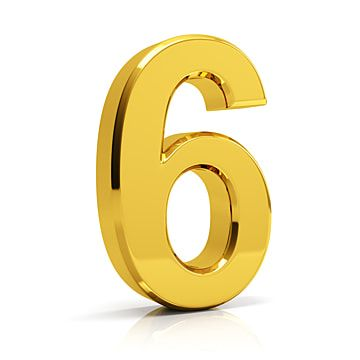Gold Number 6 6 Number Number 6 Png Transparent Clipart Image And Psd File For Free Download Linux 10 Things Gold