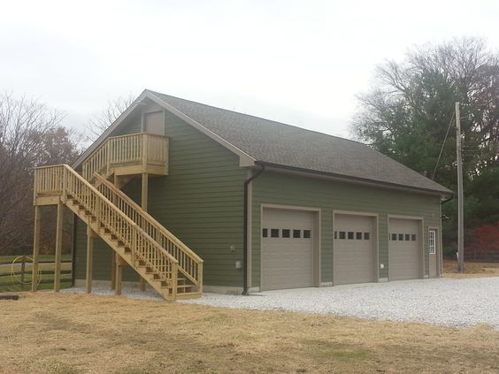 3 Car Garage Exterior Stairs And Chang 39 E 3 On Pinterest