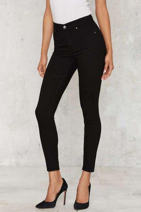 Cheap Monday High Spray Skinny Jeans - Black | fashion closet ...