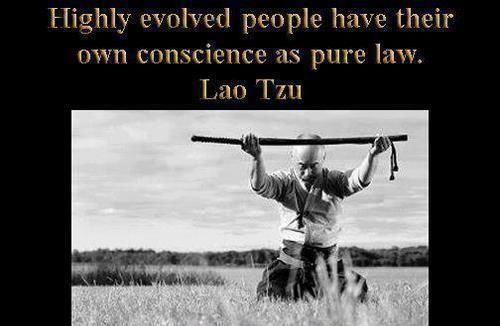 Highly evolved people have conscience as their true law - Lao Tzu