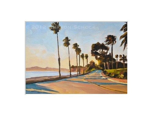 Matted Art Print Sunset at Butterfly Beach fits by sharonschock