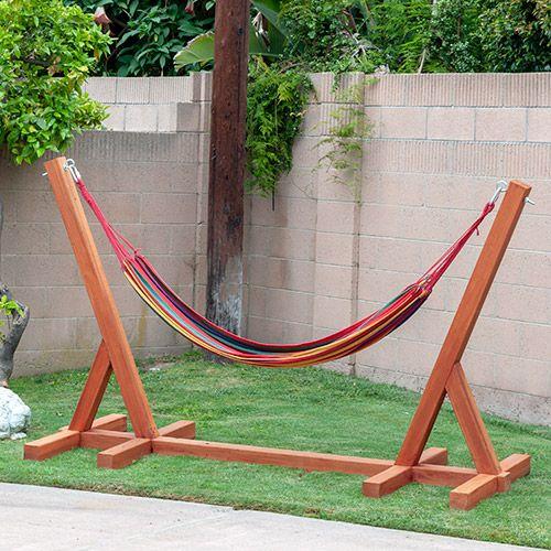 Easy Diy Hammock Stand Using 3 Tools Full Tutorial Video And Plans Diy Hammock Hammock Stand Diy Woodworking Plans Garden