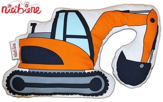 Bastelset - Näh-Set Kissen Bagger DIY Kit - ein Designerstück von stoffbuero bei DaWanda