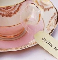 Tea party tags and vintage china.