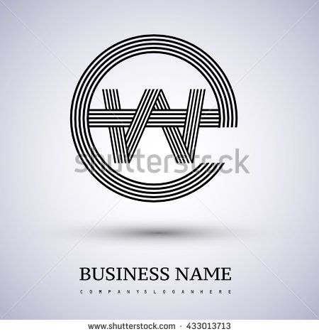 Letter EW or WE linked logo design circle E shape. Elegant black colored letter symbol. Vector logo design template elements for company identity. - stock vector