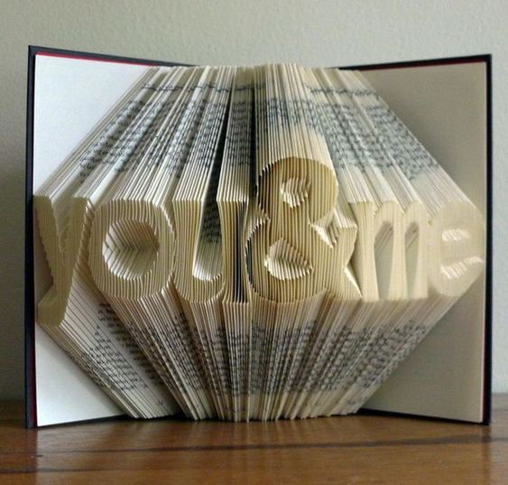 Folded Book Art Sculpture. This artwork is a creative and novel gift idea for your besties. This foled book art sculpture is a wonderful ornament for the desk. http://hative.com/best-friend-gift-ideas/