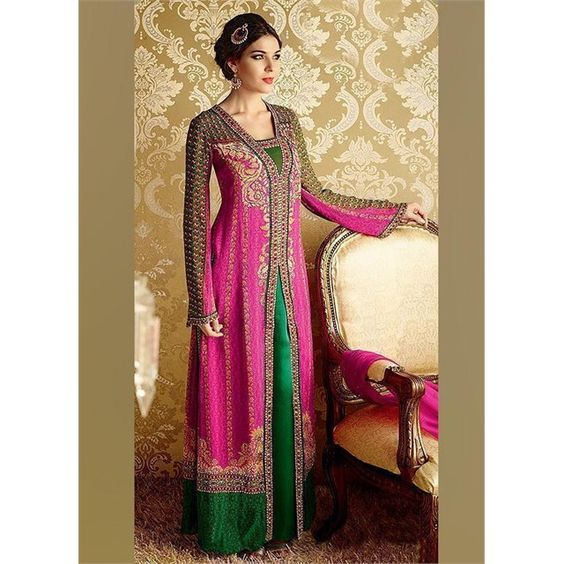 Instant Charm : A beautiful Colour Combination Designs Of Straight Styled Salwar Suits @ Best Buy Price  Grab your desired look @ http://bit.ly/1RUxPfC  @ www.fashneez.com