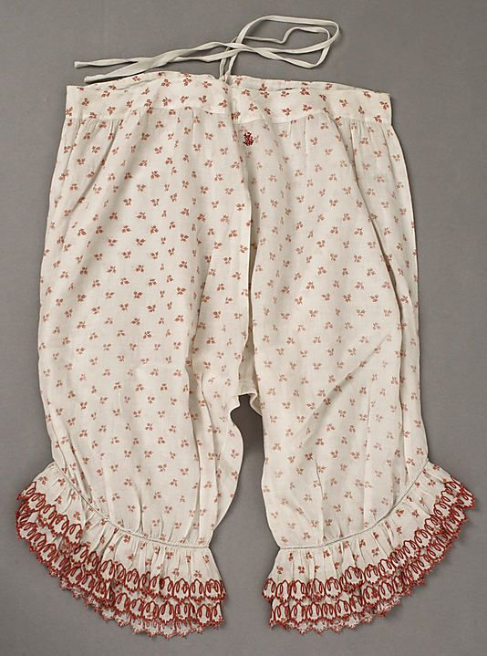 Underpants (Pantalets)  Date: mid-19th century Culture: American or European…: