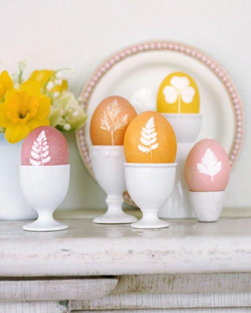 Botanical eggs for easter
