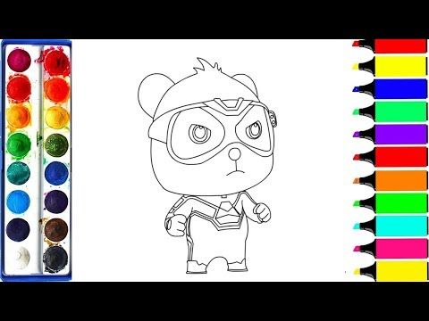 Drawing For Kids Coloring Baby Bus Kiki For Toddlers Super Rescue Team Youtube Drawing For Kids Coloring For Kids Bus Drawing