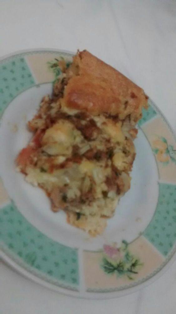 pedaço torta de atum