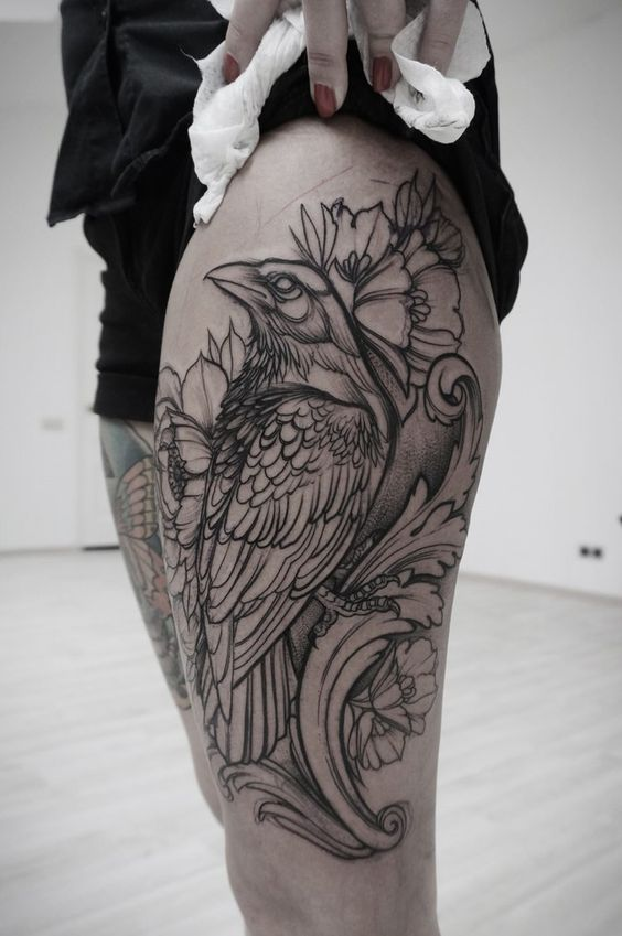 Cool Crow Tattoo thing