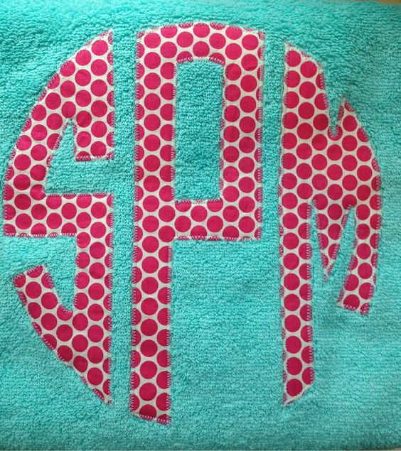Circle Monogram Personalized Towel. damsel in a dress - etsy