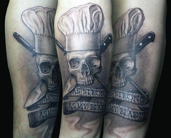 60 Chef Knife Tattoo Designs For Men Cook Ink Ideas Tatuagem