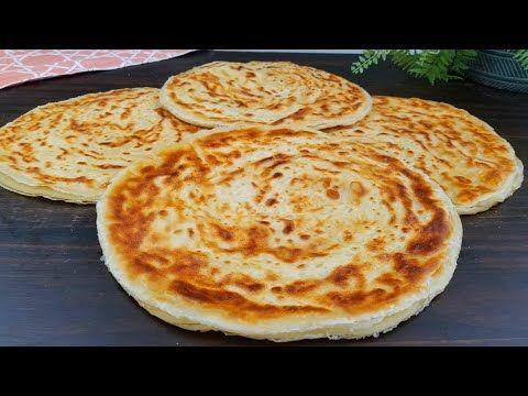 بدون فرن ولا تنور طريقة ناجحة من اول تجربة لعمل خبز الملوح المورق Malawah Bread Recipe Youtube