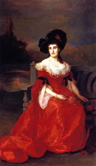"""""""Marguerite Alexandrine, duchesse du Gramont, née de Rothschild"""", 1902 by Philip de László (Hungarian/British, 1869-1937)"""
