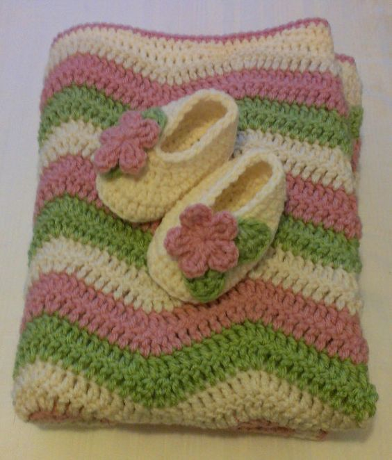 ready to ship crocheted girls ripple baby by sweetfaithboutique, $35.00