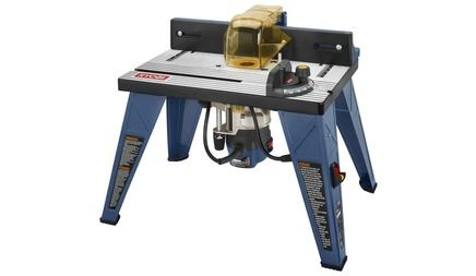 """RYOBI ROUTER TABLE WITH 1.5 PEAK HP ROUTER model # R163RTA. """"dream workshop"""" $?"""
