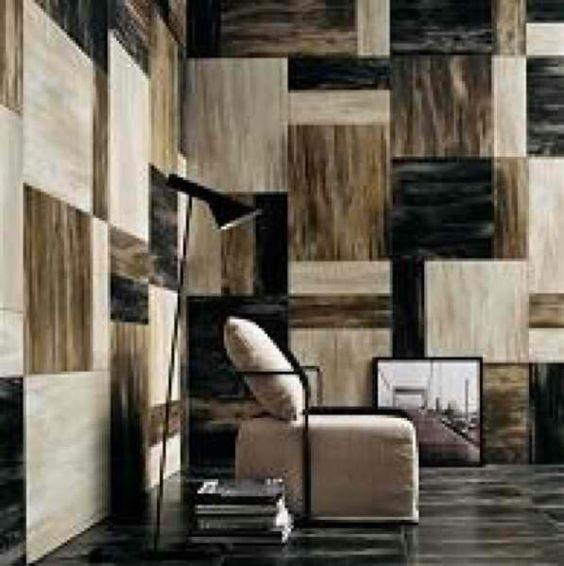 Travertine checkerboard. Cool.
