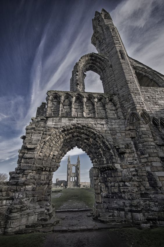St Andrews cathedral, Scotland  I always thought that getting married in the ruins of a church would be awesome!