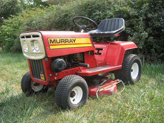 Murray Racing Mower : Murray lawn tractor riding mower made in near