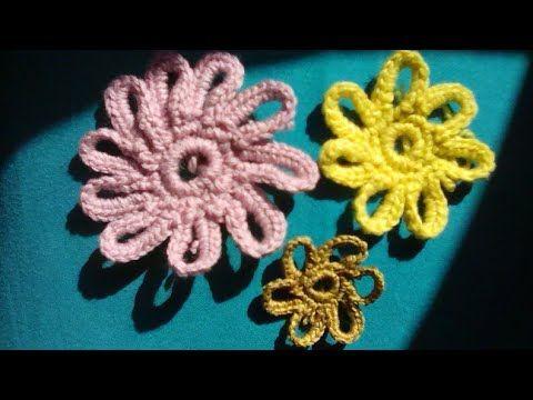 Crochet الوردة المفرغة وردة مفرغة لتزين الملابس مجلة الكروشية How To Crochet Flower Youtube Crochet Earrings Stitch Crochet